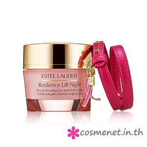 Resilience Lift Night Creme with Pink Ribbon Bracelet