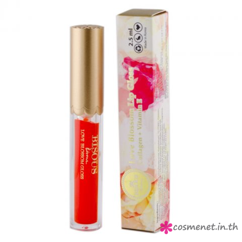 Bisous Bisous Love Blossom Lip Gloss Collagen Vitamin E