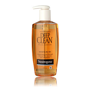 Neutrogena : Deep Clean Facial Cleanser For Normal to Oily Skin