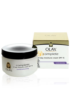 OLAY : Complete All Day UV Moisture Cream SPF 15 - Combination/Oily